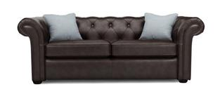 Ashby 3 Seater Brown Sofa