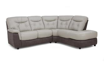 Option A Left Hand Facing Arm 2 Piece Corner Sofa Bacio Vellutato