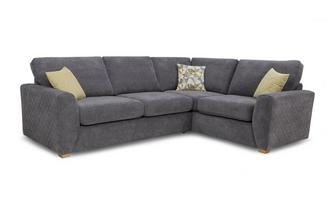 Left Hand Facing Arm 2 Seater Corner Sofa Sherbet