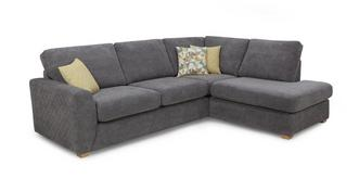 Astaire Left Hand Facing Arm Open End Corner Sofa
