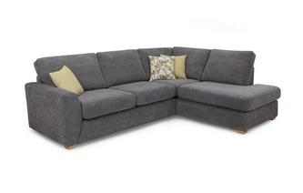 Left Hand Facing Arm Open End Corner Sofa Sherbet