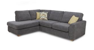 Astaire Right Hand Facing Arm Open End Corner Deluxe Sofa Bed