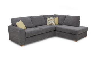 Left Hand Facing Arm Open End Corner Deluxe Sofa Bed Sherbet