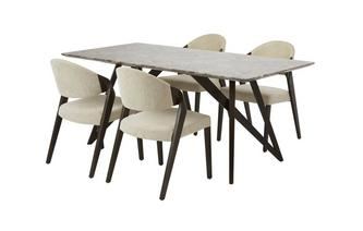 Fixed Table & Set of 4 Chairs Asteria