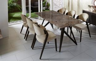 Asteria Fixed Table & Set of 4 Chairs Asteria