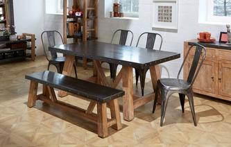Atom Fixed Top Table & Set of 4 Chairs Atom