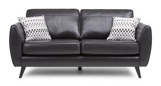Aurora Leather 3 Seater Removable Arm