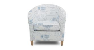 Autograph Pattern Accent Chair