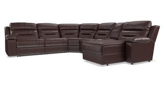 Bachelor Right Hand Facing Recliner Audio Chaise Corner Sofa