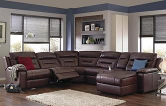 Bachelor Right Hand Facing Recliner Audio Chaise Corner Sofa Premier Perf Self