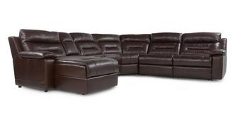 Bachelor Left Hand Facing Recliner Audio Chaise Corner Sofa