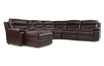 Left Hand Facing Recliner Audio Chaise Corner Sofa Premier Perf Self