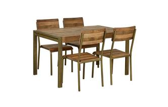 Medium Fixed Top Table & Set of 4 Chairs Barclay