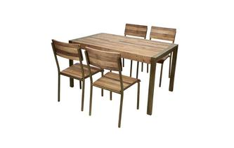 Small Fixed Top Table & Set of 4 Chairs Barclay