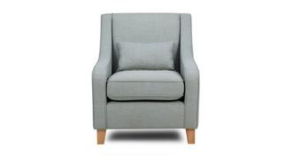 Beau Accent Chair with 1 Plain Bolster