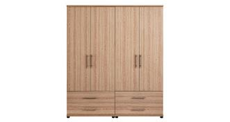 Belize 4 Door Robe with Drawers