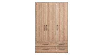 Belize 3 Door Robe with Drawers
