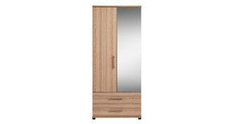 Belize 2 Door Mirror Robe with Drawers