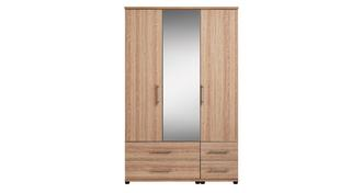 Belize 3 Door Mirror Robe with Drawers