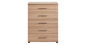 Belize 5 Drawer Wide Chest