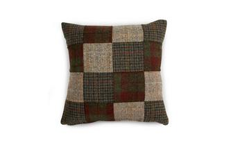 Square Patchwork Scatter Cushion Harris Tweed Patch