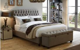Berneray Bed Double (4 ft 6) Bedframe Harris Tweed