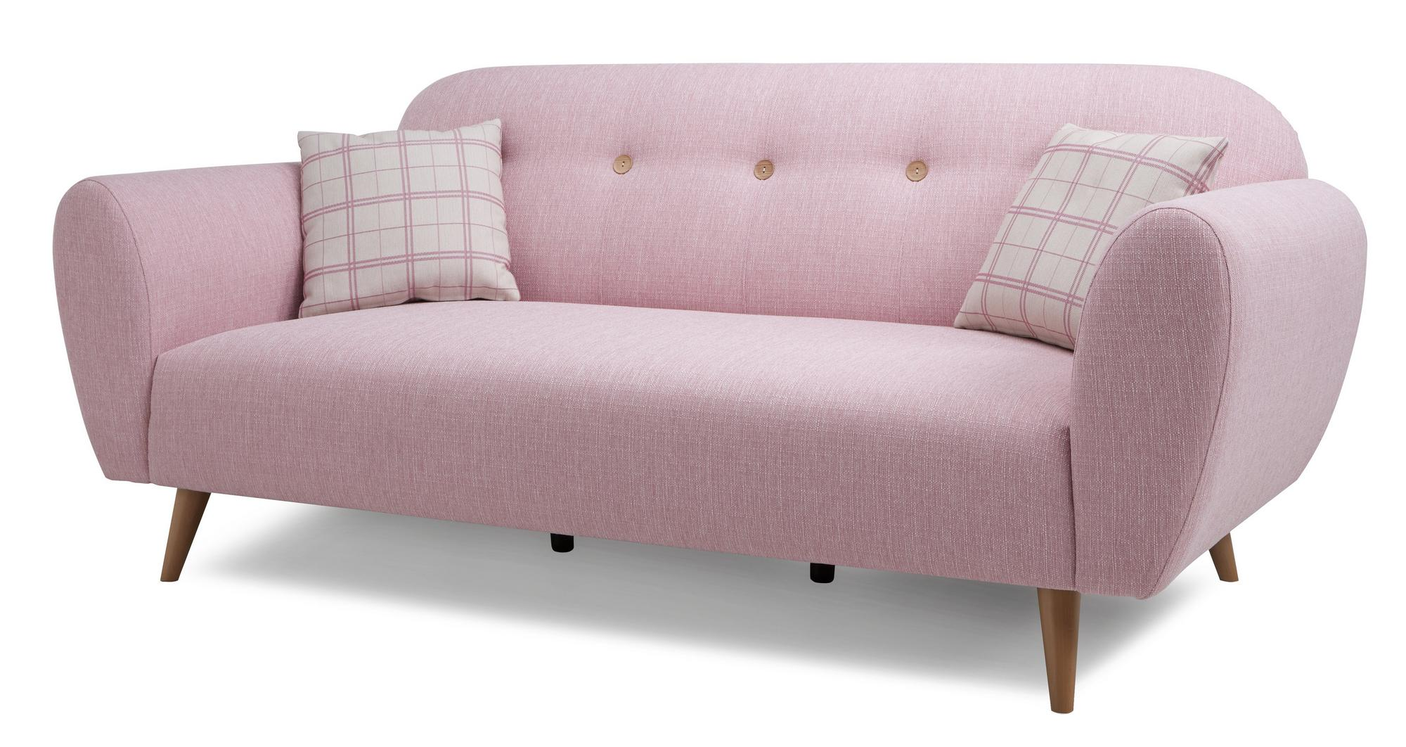 dfs betsy pink 3 seater fabric sofa 49950 ebay. Black Bedroom Furniture Sets. Home Design Ideas