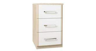 Blanco 3 Drawer Narrow Chest