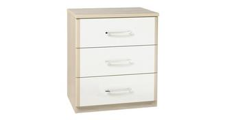 Blanco 3 Drawer Wide Chest