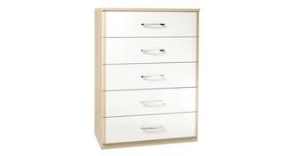 Blanco 5 Drawer Wide Chest
