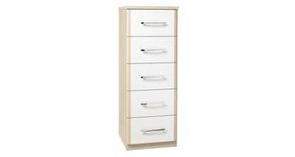 Blanco 5 Drawer Narrow Chest