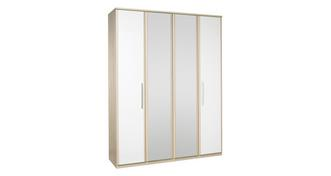 Blanco 4 Door Mirror Robe
