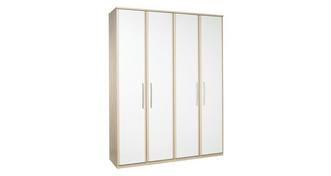 Blanco 4 Door Bi Fold Robe