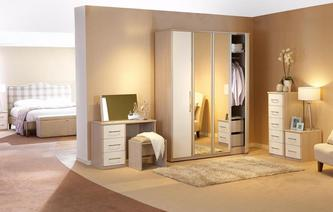Blanco 4 Door Bi Fold Mirror Robe Blanco