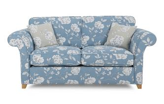 Floral 2 Seater Formal Back Deluxe Sofa Bed