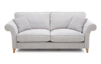 Plain 3 Seater Formal Back Sofa