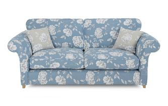 Floral 3 Seater Formal Back Deluxe Sofa Bed