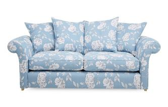 Floral 3 Seater Pillow Back Deluxe Sofa Bed