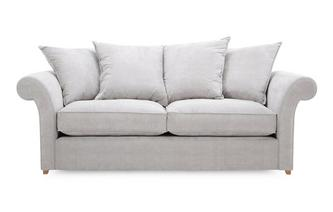 Plain 3 Seater Pillow Back Deluxe Sofa Bed