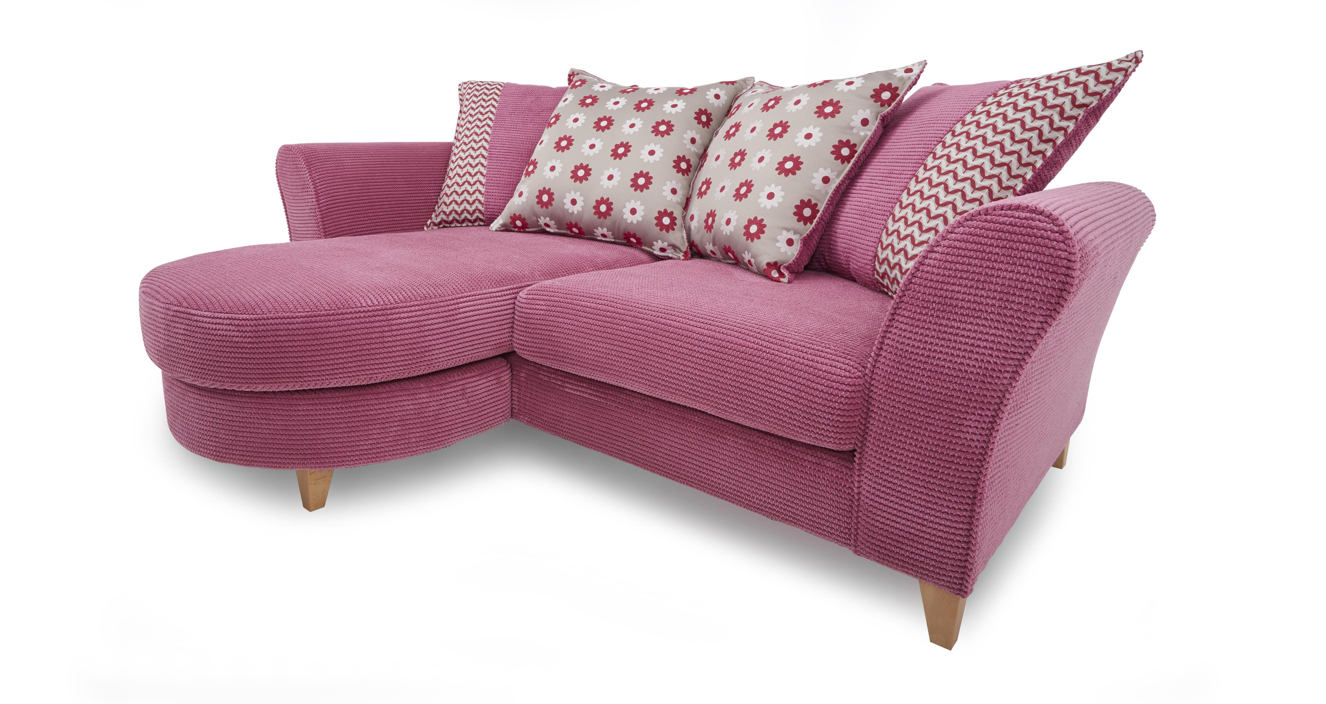Dfs Bonbon Pink Fabric Sofa Set Inc 3 Seater Accent Chair