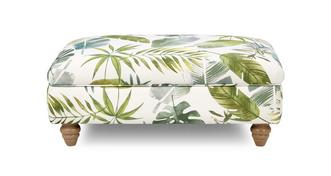 Botanic Pattern Banquette Footstool