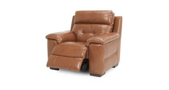 Bowness Leather and Leather Look Manual Recliner Chair