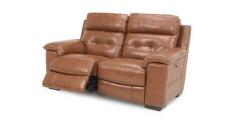 Bowness Leather and Leather Look 2 Seater Electric Recliner
