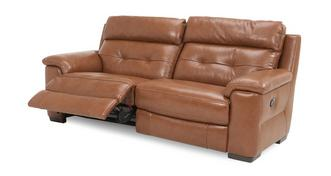 Bowness Leather and Leather Look 3 Seater Manual Recliner