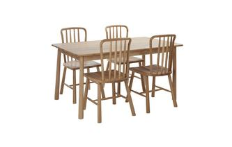 Large Fixed Dining Table & Set of 4 Chairs Bramley