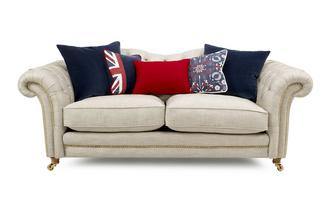 3 Seater Sofa with Studs Britannia