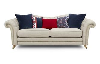 4 Seater Sofa with Studs Britannia