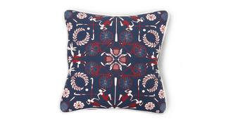 Britannia Kaleidescope and Plain Scatter Cushion