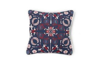 Kaleidescope and Plain Scatter Cushion Britannia Kaleidoscope