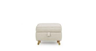 Britannia Storage Footstool with Piping